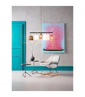 Piękny obraz do salonu w stylu nowoczesnym. Ożywi wnętrze pokoju w stylu industrialnym.