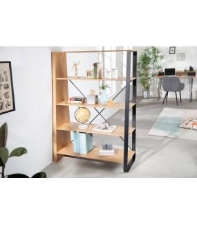 Ciekawy i pojemny regał do pokoju w stylu loft. Sprawdzi się w biurze lub domowym gabinecie.