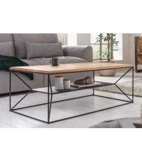 Praktyczny stolik kawowy do salonu w stylu industrialnym. Sprawdzi się w poczekalni. Będzie idealny do skandynawskiego pokoju.