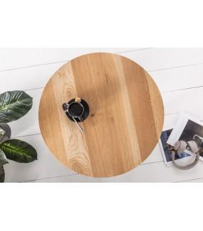 Praktyczny stolik do salonu industrialnego lub poczekalni.