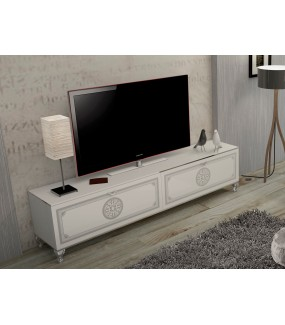 Stolik pod TV GENUA CONTEMPOR 200 cm biały
