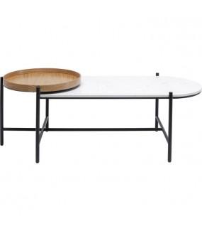 Ciekawy stolik kawowy idealny do nowoczesnego salonu. Sprawdzi się w nowoczesnym pokoju. Pięknie zaprezentuje się w poczekalni.
