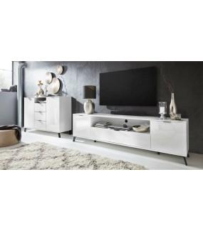 Stolik pod TV CASABLANCA 220 cm biały