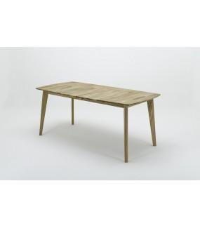 Rozkładany stół do jadalni w stylu nowoczesnym. Sprawdzi się do kuchni w stylu rustykalnym bądź skandynawskim