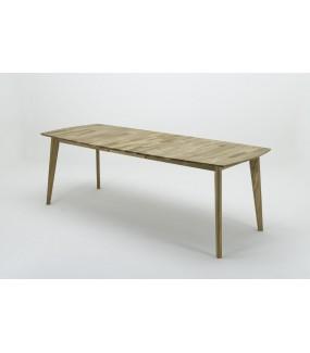 Piękny stół do jadalni zarówno w stylu rustykalnym jak i skandynawskim. Sprawdzi się do kuchni w stylu nowoczesnym.