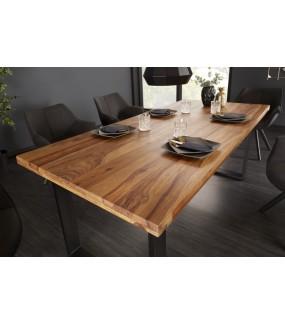 Stół do jadalni Iron Craft 200 cm z naturalnego drewna Sheesham.