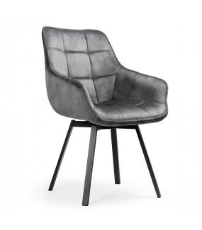 Nowoczesne krzesło z obrotowym siedziskiem do salonu