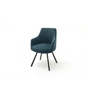 Obrotowe krzesło będzie ciekawą alternatywą do klasycznego salonu lub nowoczesnej jadalni.