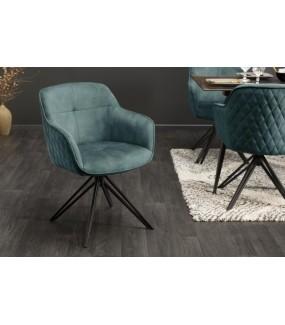 Obrotowe krzesło Edmonton idealnie wpisze się do salonu w stylu glamour