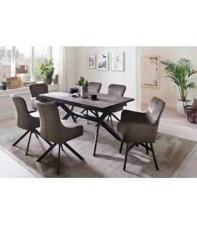 Rozkładany stół do klasycznego salonu lub jadalni w nowoczesnym stylu.