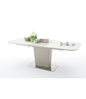 Rozkładany stół idealny do skandynawskiego salonu oraz jadalni w stylu nowoczesnym.