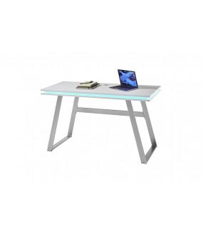 Biurko gamingowe z oświetleniem LED idealnie wpisze się do pokoju młodzieżowego oraz do nowoczesnego biura.