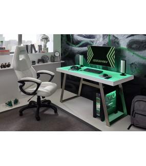 Praktyczne biurko z oświetleniem LED idealnie sprawdzi się w pokoju młodzieżowym a nawet w nowoczesnym biurze