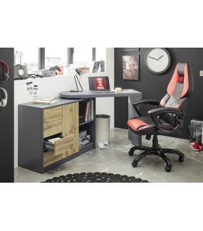 Biurko rozsuwane może służyć jako komoda w pokoju młodzieżowym