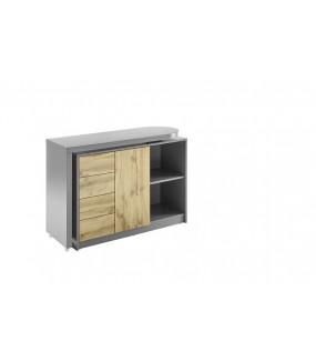Praktyczne biurko rozsuwane idealne do wnętrz nowoczesnych oraz klasycznych.