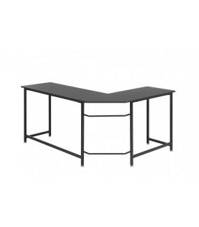 Praktyczne narożne biurko metalowe w kolorze czarnym będzie idealne do nowoczesnego biura oraz gabinetu.