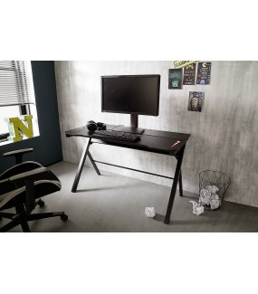 Innowacyjne biurko najwyższej klasy to praktyczne rozwiązanie dla graczy o niepowtarzalnej charakterystyce z podświetleniem LED