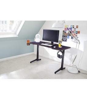 Praktyczne biurko gamingowe z uchwytami do nowoczesnego lub klasycznego pokoju.