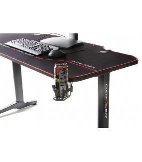 Profesjonalne biurko gamingowe z serii DXRACER w optyce carbonu idealne dla graczy.