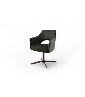 Krzesło z obrotowym siedziskiem idealne do salonu urządzonego w stylu klasycznym.