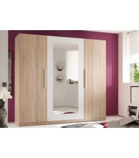 Szafa MARTINA 228 cm w kolorze dąb sonoma do sypialni