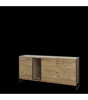 Komoda zaprojektowana w industrialnym stylu. Przypadnie do gustu miłośnikom minimalizmu.