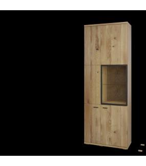 Witryna dwudrzwiowa FLORA będzie pięknym i funkcjonalnym dodatkiem do pokoju dziennego w stylu nowoczesnym.