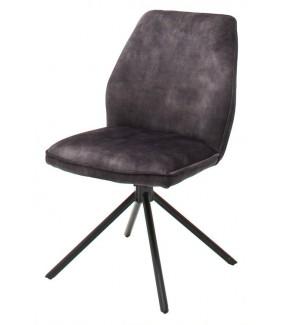 Piękne obrotowe krzesło w kolorze antracytowym idealnie wpisze się do wnętrz w stylu skandynawskim oraz industrialnym.
