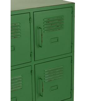 Zielona komoda z 9 półami wkomponuje się zarówno do aranżacji salonu, kuchni, jak i sypialni.