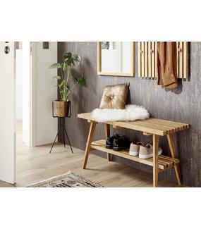 Praktyczna ławka z drewna dębowego idealnie sprawdzi się w przedpokoju