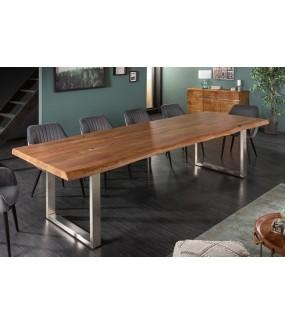 Duzy stół do jadalni z drewna akacja 300 cm