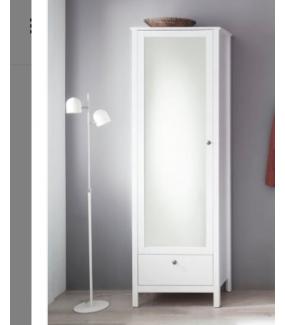 Szafa OLE 1 z lustrem biała idealnie sprawdzi się w przedpokoju.