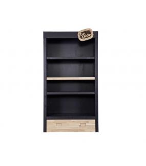 Regał BEPURE czarny idealnie sprawdzi się w domowej bibliotece.