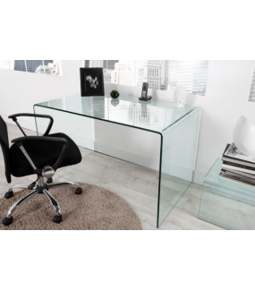 Biurko Fantome 120 cm szklane do domowego gabinetu lub pokoju młodzieżowego