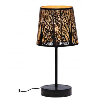 Lampa stołowa keto metalowa czarny antyczny mosiądz