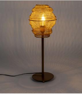 Nowoczesna lampa metalowa w kolorze mosiądzu