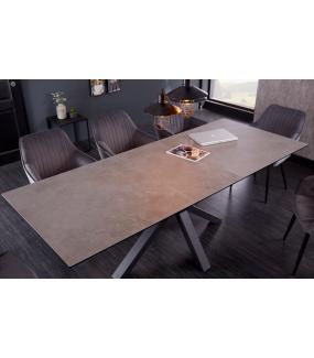 Stół rozkładany JUKON 180 cm - 225 cm ceramika w optyce betonu