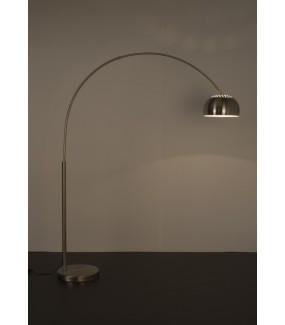 Lampa podłogowa  Metal Bow 190 cm - 204 cm srebrny