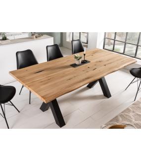 Stół VIVENTE Living Edge 200 cm drewno dąb dziki