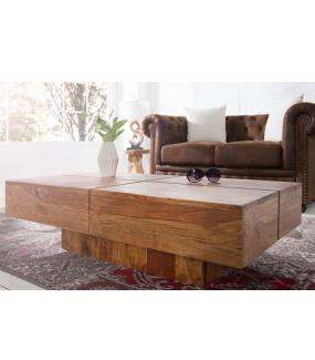 Stolik kawowy Bolt 110 cm drewno Sheesham