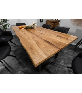 Stół VIVENTE Living Edge 160 cm Drewno Dąb Dziki