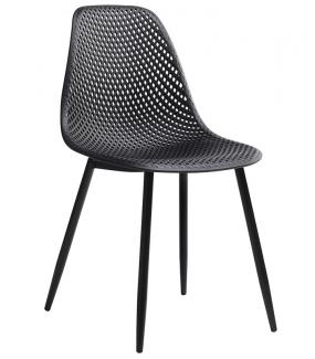 Krzesło TIVO czarne genialnie sprawdzi się w industrialnej jadalni lub nowoczesnym pokoju.