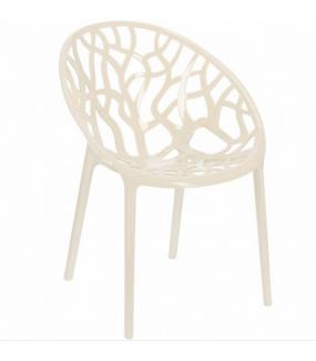 Ażurowe krzesło świetnie będzie się prezentować w salonie w stylu nowoczesnym oraz w pokoju czy jadalni w stylu skandynawskim.
