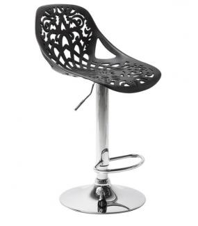 Krzesło barowe ORNAMENT czarne Stworzy idealny, jadalniany kącik ustawione przy wyspie w jadalni lub kuchni.