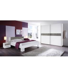 Szafa MARVIC 215 Cm W Kolorze białym z dodatkiem szarego do sypialni