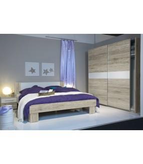 Łóżko MARVIC 160 Cm X 200 Cm w kolorze dąb san remo