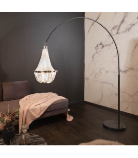 Lampa podłogowa Impose 189 cm -204 cm srebrna