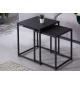 Zestaw dwóch czarnych metalowych stolików pomocniczych DOS UNO do pokoju, salonu czy przedpokoju