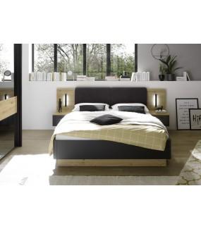 Łóżko STARLIGHT 160 cm x 200 cm w kolorze Dąb artisan