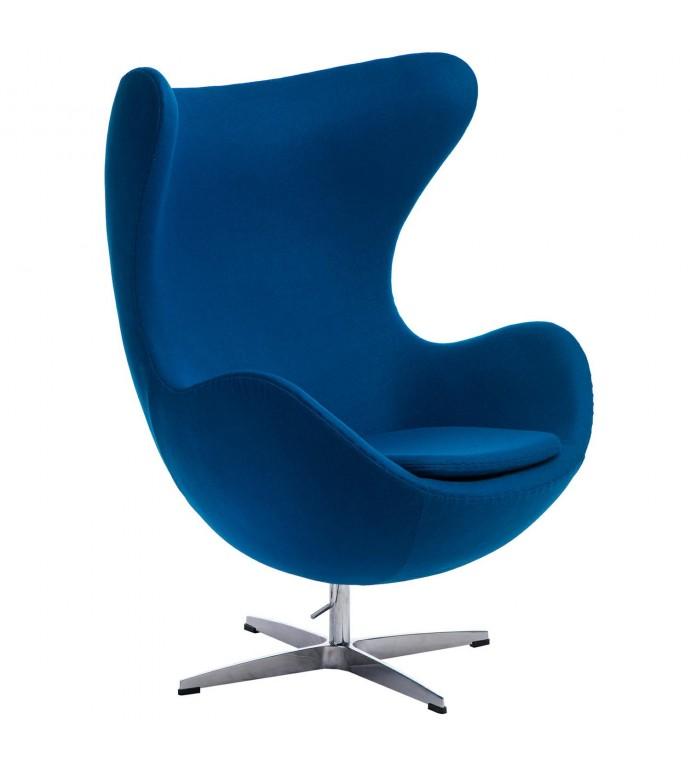 Fotel Jajo kaszmir niebieski